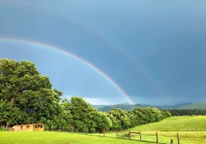 Double rainbow from The Loft at Blue Sky Ranch in Stanley, VA